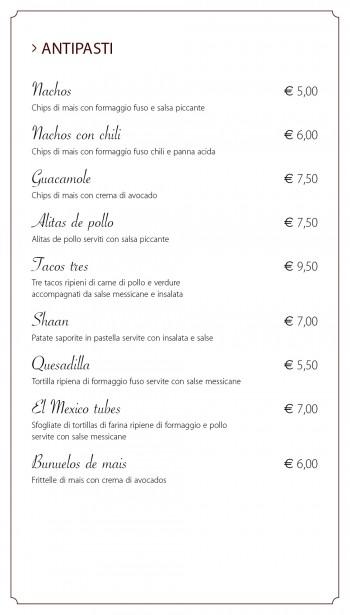 SHAAN (menu on-line)